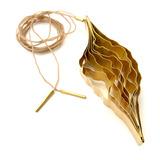 Bosque Collar Dije c/cordón  - Baño de Oro