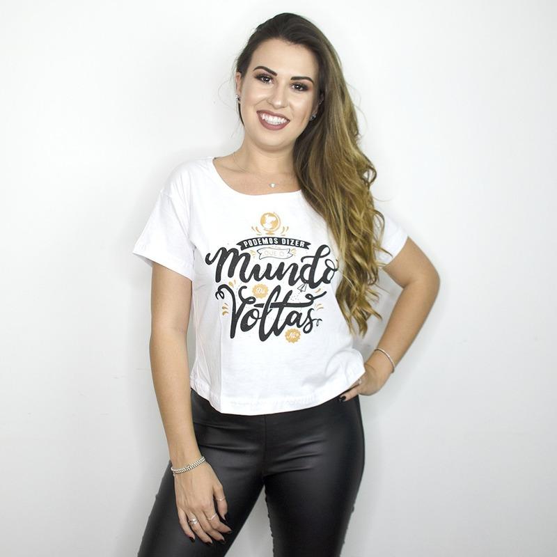 CROPPED BRANCO - O MUNDO DA VOLTAS
