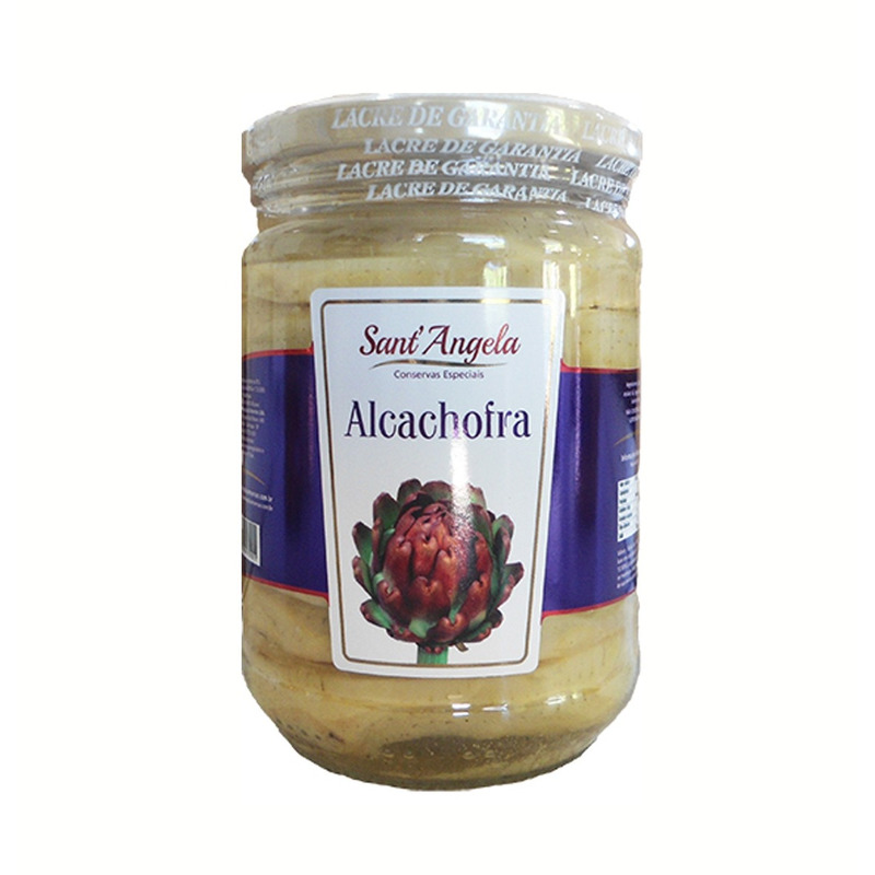 Fundo de alcachofra em conserva sem tempero 560gr - Sant'Angela