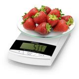 Balanza Digital De Cocina Plato Vidrio Atma Bc7203N Max 3kg
