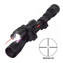 Mira Telescopica Gamo Vampir 4x32 Wrv Laser Linterna - Aire
