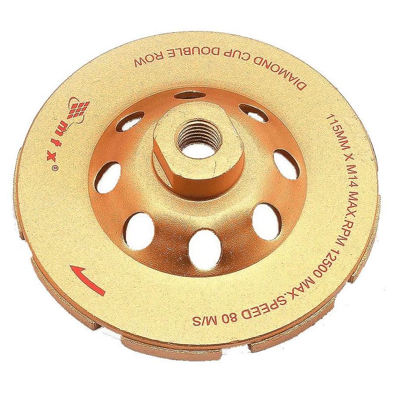 Rebolo Diamantado Turbo 115 x M14 para lixar Alvenaria - 729099 - MTX<BR><BR>