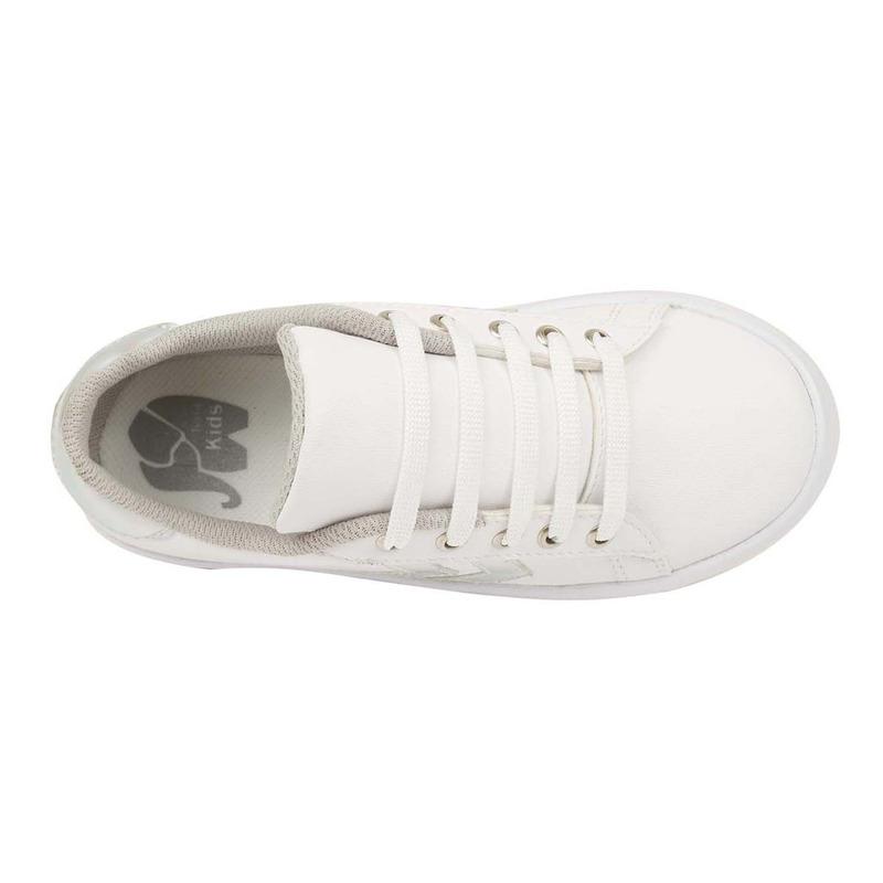Sneakers blancos franjas grises 018847