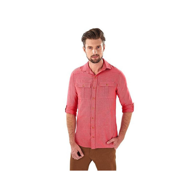 Camisa roja manga larga 014619