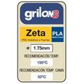 Filamento Impr 3d Pla 1.75 Grilon3 1kg  ZETA Clear Amarillo