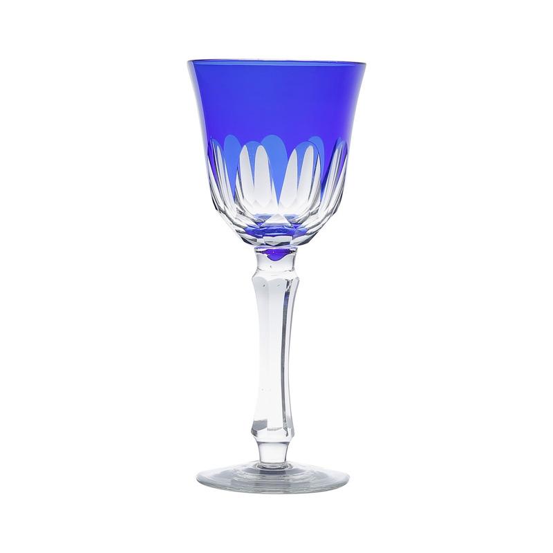 Jogo 6 Taças Azuis para Vinho Tinto Aurora - Bon Gourmet 31025759
