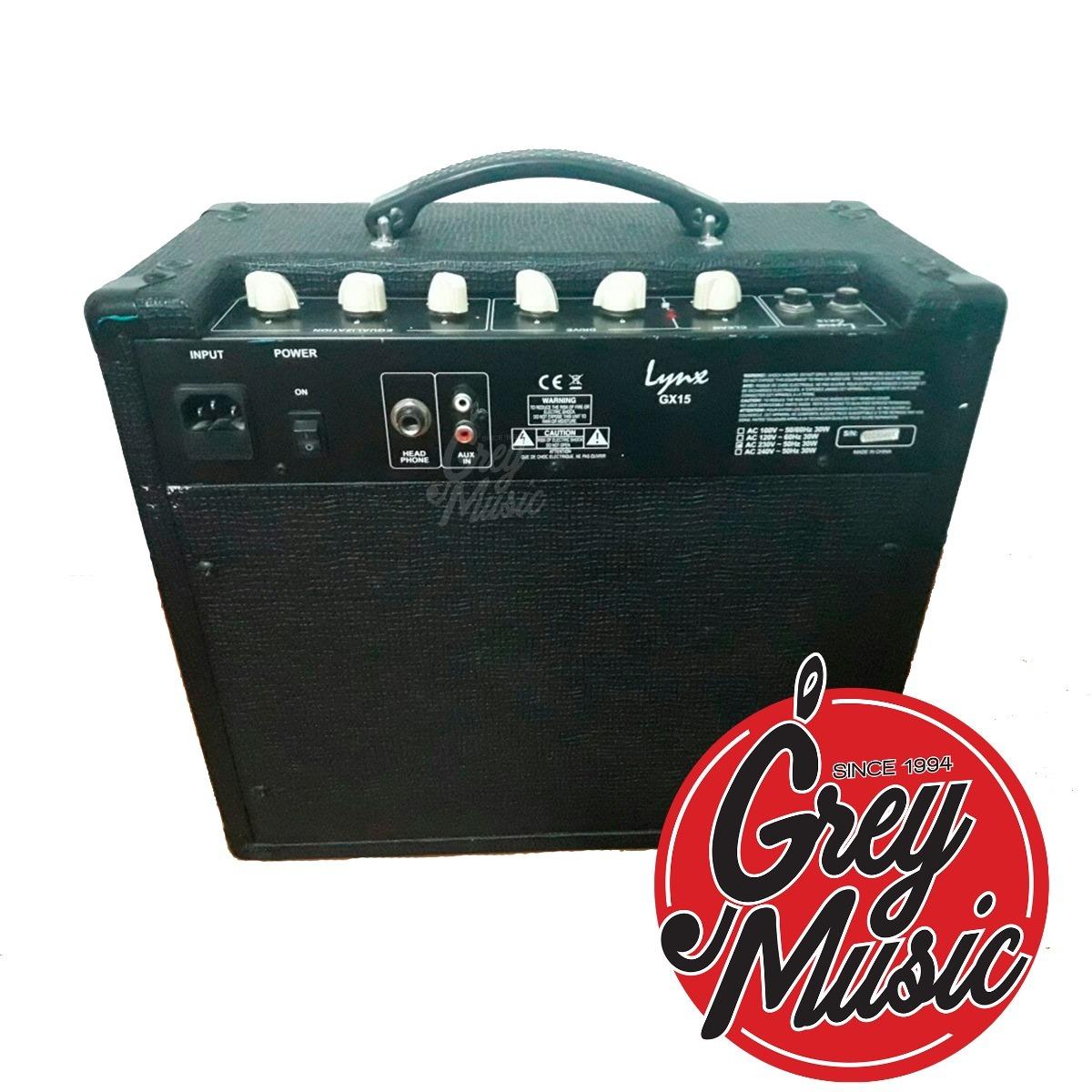 Amplificador Denver Lynx Gx15g Para Guitarra Electrica Grey