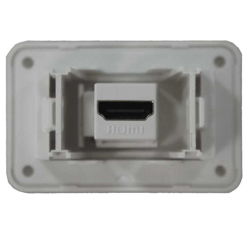 Tomada para Móveis HDMI - Lumitek - Branco
