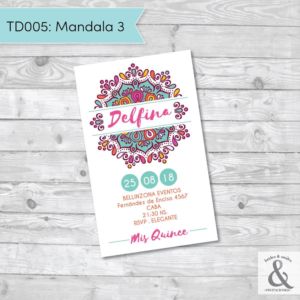 Invitación digital TD005 (Mandala 3)