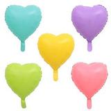 globo corazon pastel 45cm desinflado apto helio
