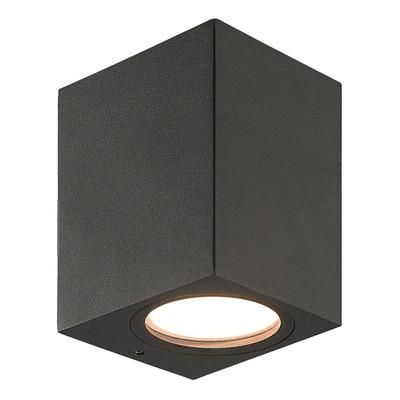 Unidireccional Aluminio Negro Recto Apto Led Gu10 K1301 Mks