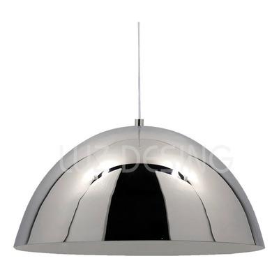 Colgante Campana Cromo 30cm Apto Led Deco Moderno Lmp Sf
