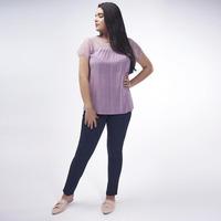 Blusa Lila Con Textura 017182