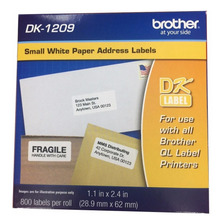Rollo Etiquetas Cinta Brother Dk-1209 29x62mm Orig 800 Eti.