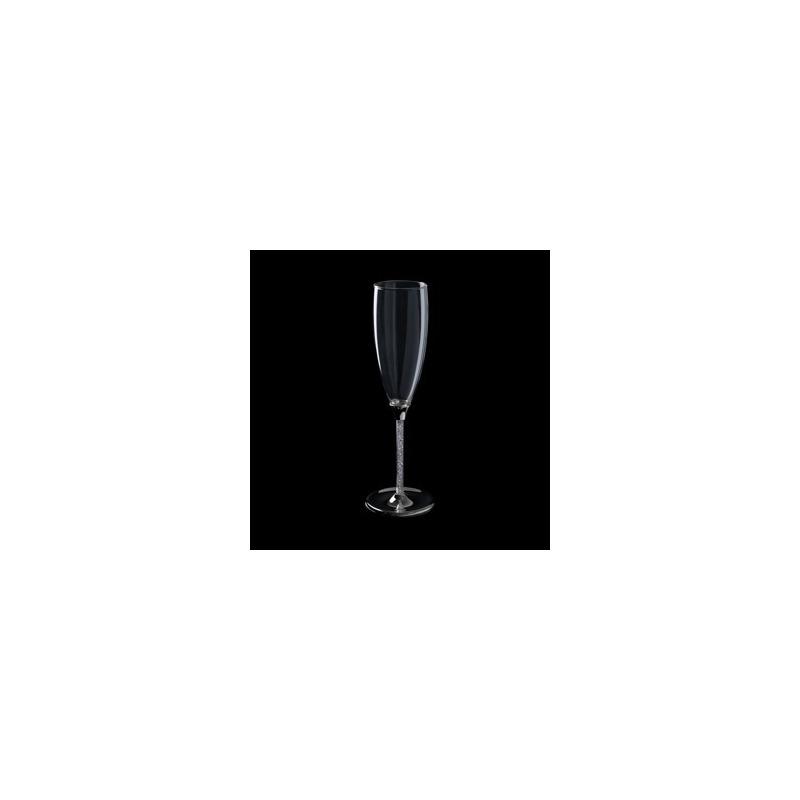 Jogo 2 Taças em Vidro para Champagne Strass Bodas de Prata 4106387