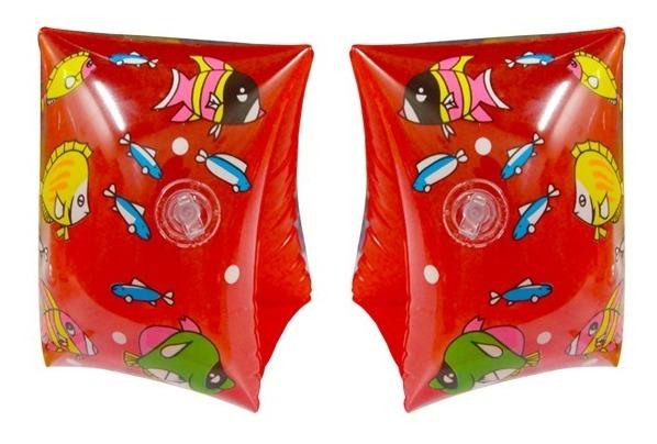 Set X 2 Pares Bracitos Inflable Plastico Niños Playa Pileta