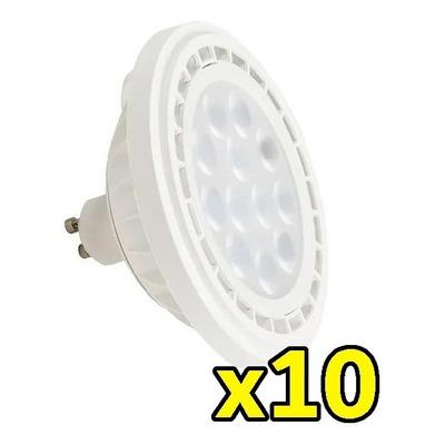 Pack X 10 Lampara Ar111 15w Led Alta Potencia Luz Desing