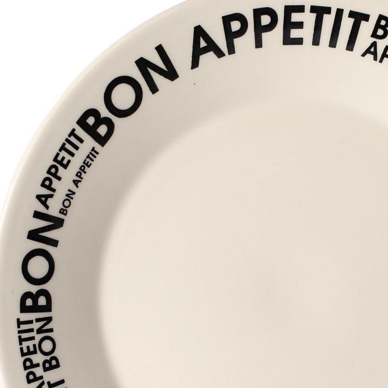 Juego Vajilla Platos 6 Pzs Bon Appetit Biona Loza Decorados