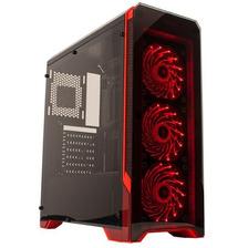 Gabinete Gamer 3 Coolers Rojos Con Fuente 600w 8609 Noga