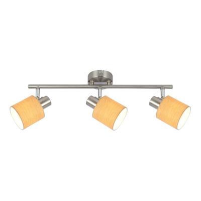 Plafón Roble Moderno 3 Luces - Apto Led E-14 - Du2608-3