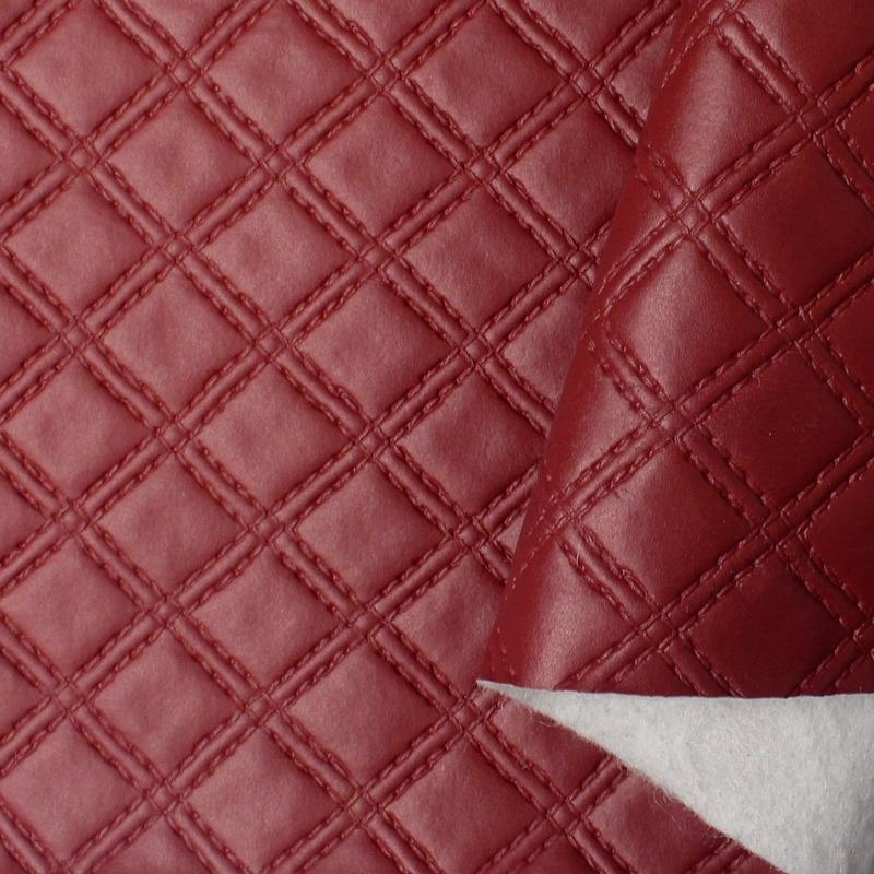 Tecido corino capitonê vermelho Larg. 1,40 m