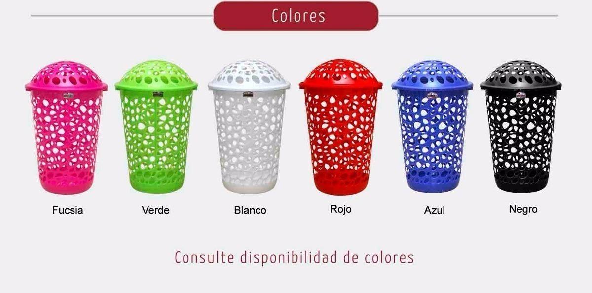 Canasto Cesto Ropa Sucia Plástico X7 - Colombraro