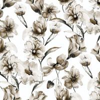 Tecido impermeável Acqua Soleil floral baobá cinza