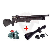Rifle Aire Pcp Kral Puncher 12 Tiros - Regulable + Mira 4x40