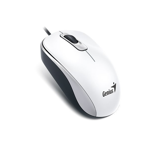 Mouse Usb Optico 1000 Dpi Tres Botones Blanco Dx110 Genius