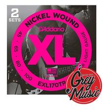 Encordado Para Bajo 4c 045-100 Daddario Exl170tp Grey Music