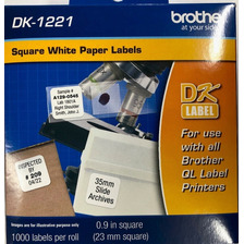 Rollo Etiquetas Cinta Brother Dk1221 23x23mm X 1000 U
