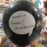 globo desinflado personalizable para escribir