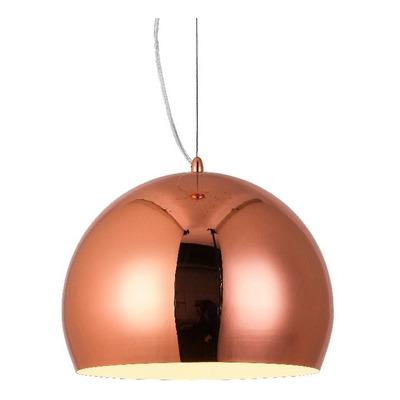 Colgante Cobre 30cm Iluminación Moderna Deco Apto Led Mks