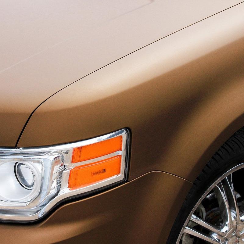 Adesivo para envelopamento automotivo jateado bronze metallic larg. 1,38 m
