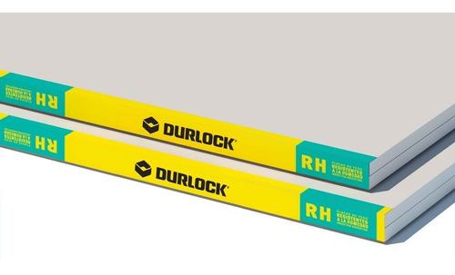 Placa Durlock 12.5 Mm 1.20x2.40 Mts Resistente Humedad Verde