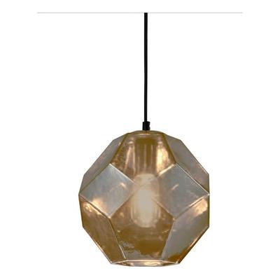 Colgante Cristal 1 Luz Ambar Birk Deco Moderno Apto Led Cie