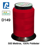 Linha Vision Vermelho 100% Poliéster, 300m