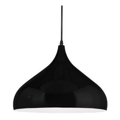 Colgante Moderno Iona Negro Nordico Apto Led E-27