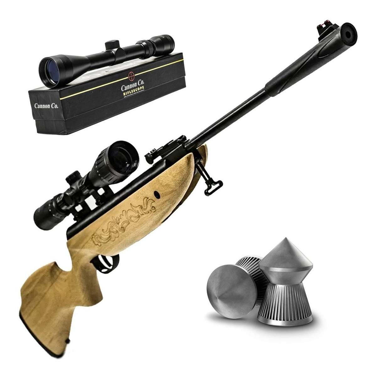 Rifle Nitro Piston Bam Mod B23-1 Cal 5 5mm Mira Zoom 3-9x40