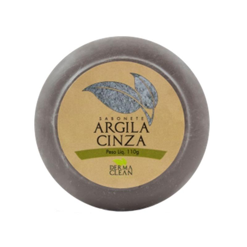 Sabonete Redondo de Argila Cinza - 110g - DermaClean