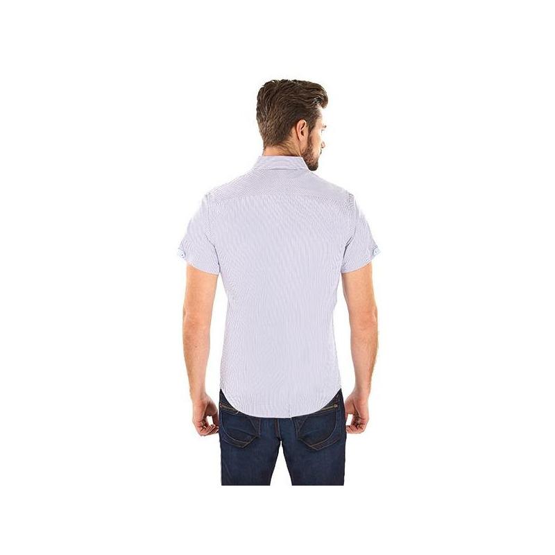 Camisa gris manga corta 015183