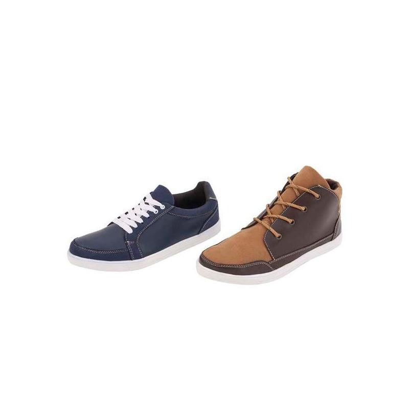 Combo sneakers café y marino 018308