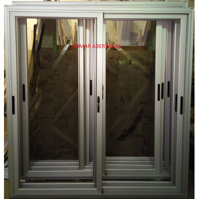 Puerta balcon aluminio linea modena x anodizado for Puerta balcon aluminio