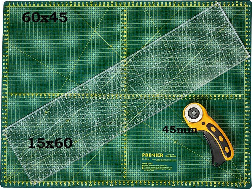 Base de Corte Premier 60x45 + Régua a Laser 15x60 ...