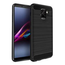 Funda Tpu Simil Carbono Samsung J6 J8 2018 + Templado