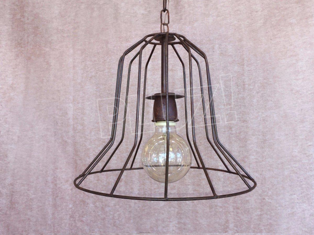 Lámpara Colgante Sombrero Bajo - Hierro Óxido