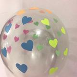 globo corazon fluo cristal desinflado apto helio