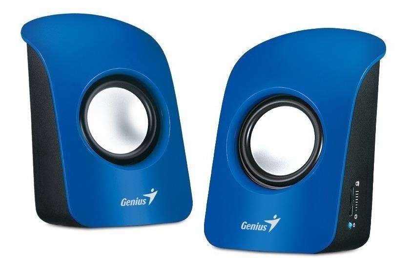 Parlantes Genius Sp U115 Azul Usb 3watts 80db Pc Notebook