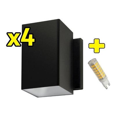 Pack X 4 Difusor Unidireccional Exterior Potente Con Led 6w