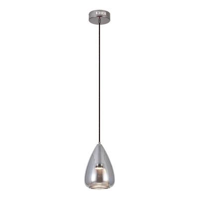 Lámpara Colgante Epich Tall Vidrio Led 5w Cromo Deco Lk